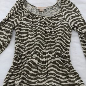 Michael Kors Zebra Print Top